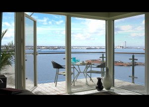 Apartment view after retouching