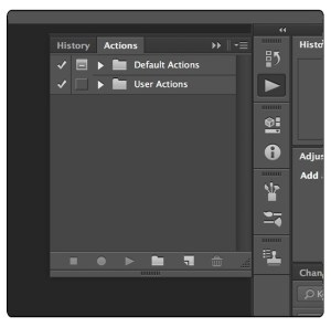 Photoshops Actions pallet