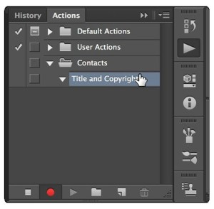 recording Photoshop Actions