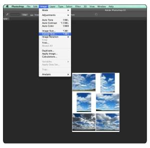 Changing Canvas size Photoshop cc