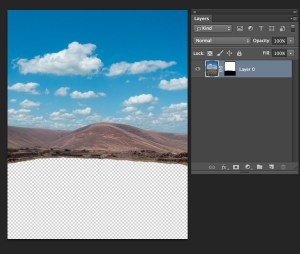 Foreground Hidden by Layer mask