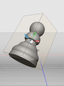 Photoshop 3D object selected