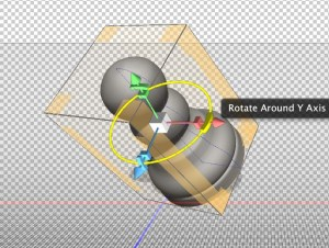 Photoshop 3D Rotation Widget.