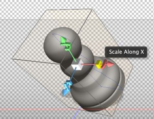 Photoshop 3D Scale Widget.