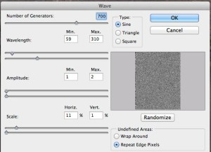 Wave Filter Settings