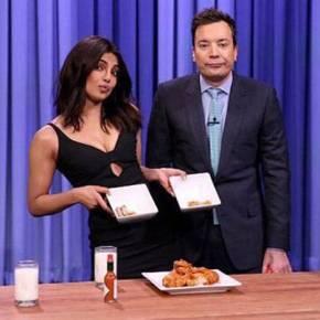 Priyanka Chopra Takes On Jimmy Fallon In The Hot Wing Challenge