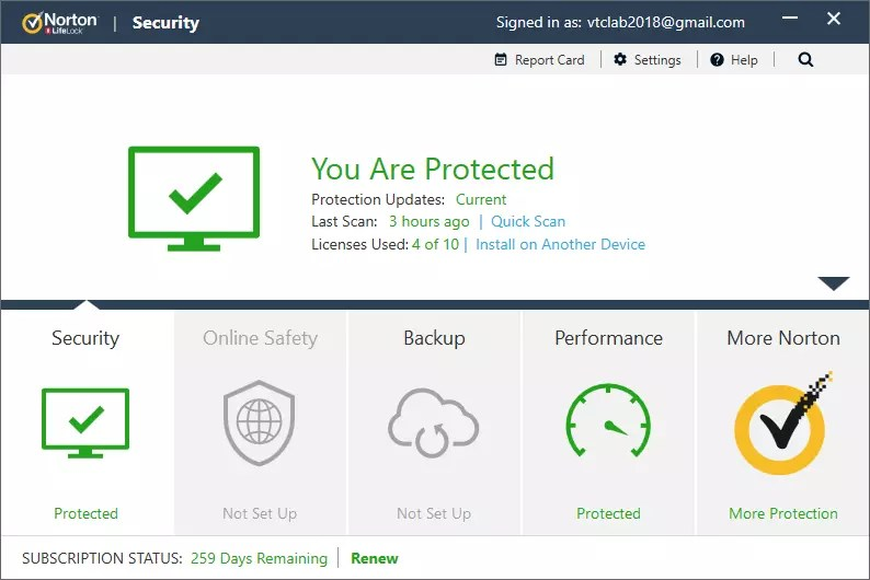 Norton Security 22.16