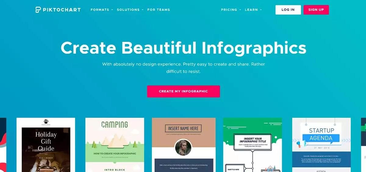Crear infografías con Piktochart