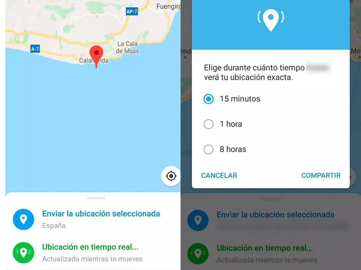 ubicación en tiempo real en Telegram