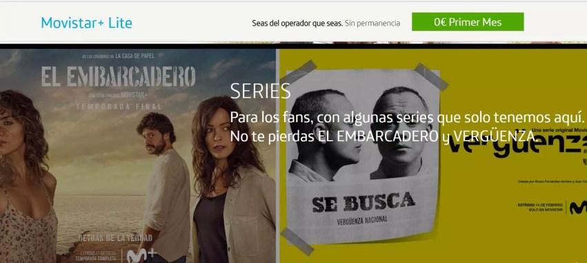 Movistar+ Lite alternativas a Netflix