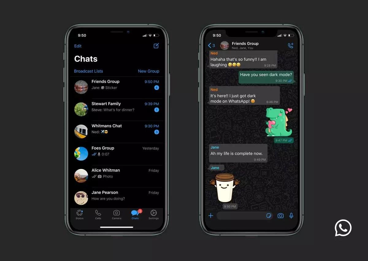 whatsapp modo oscuro android
