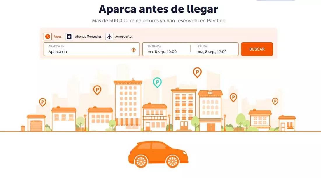 Parclick - Mejores webs para buscar aparcamiento