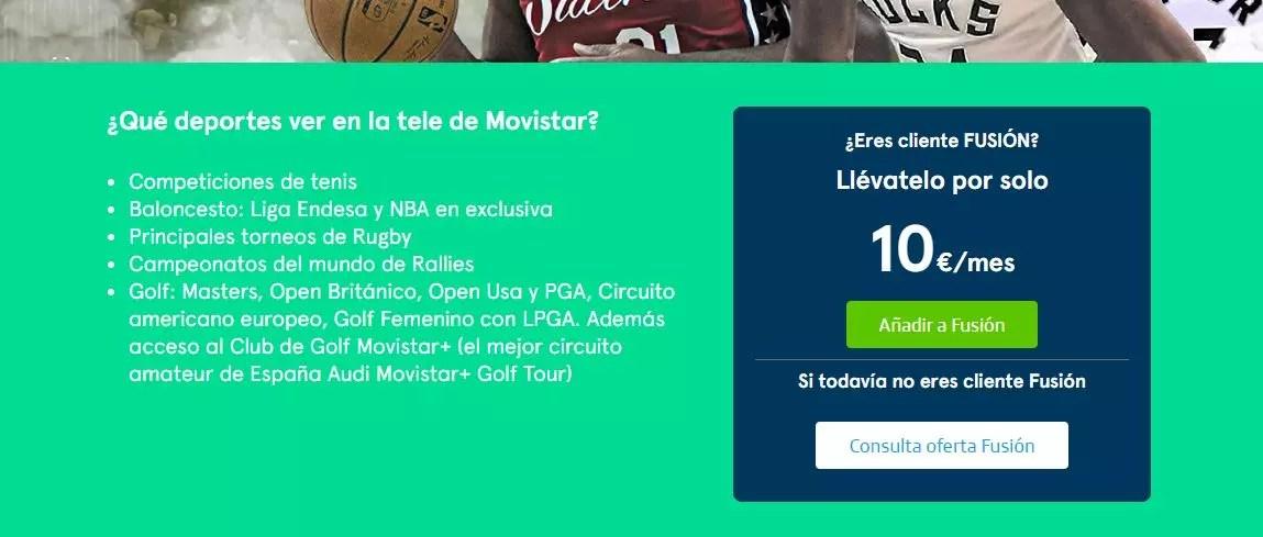 Ver torneos de tenis en Movistar