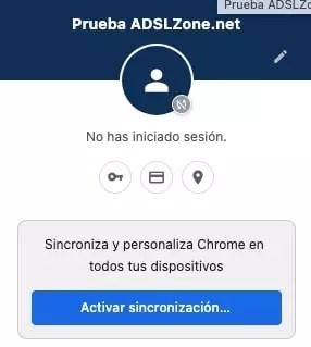 activate google chrome profile sync