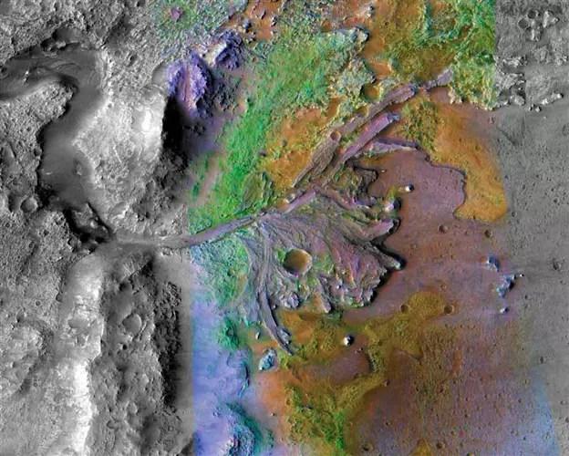 Cráter Jezero en Marte