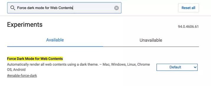 activar modo oscuro en Google Chrome