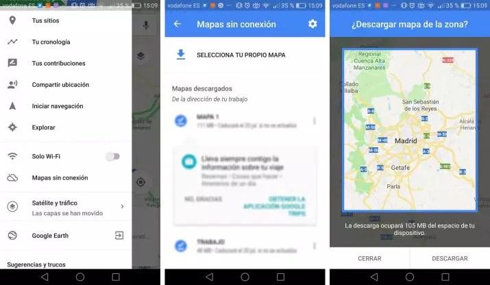 ahorrar datos en Google Maps