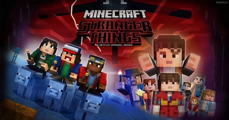 netflix juegos streaming stranger things minecraft