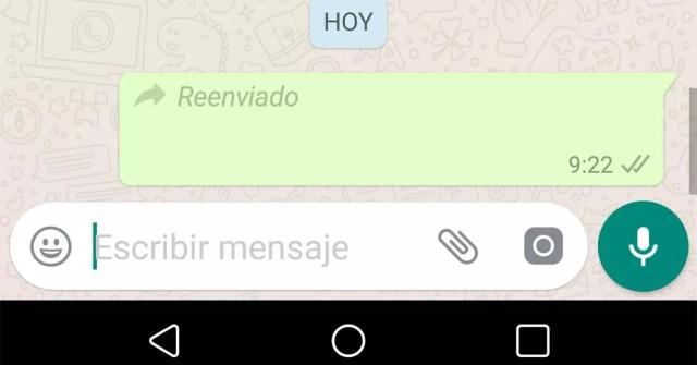 límite de reenvío de mensajes en WhatsApp
