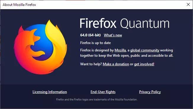 Mozilla Firefox 64 é lançado com algumas novidades | SempreUPdate