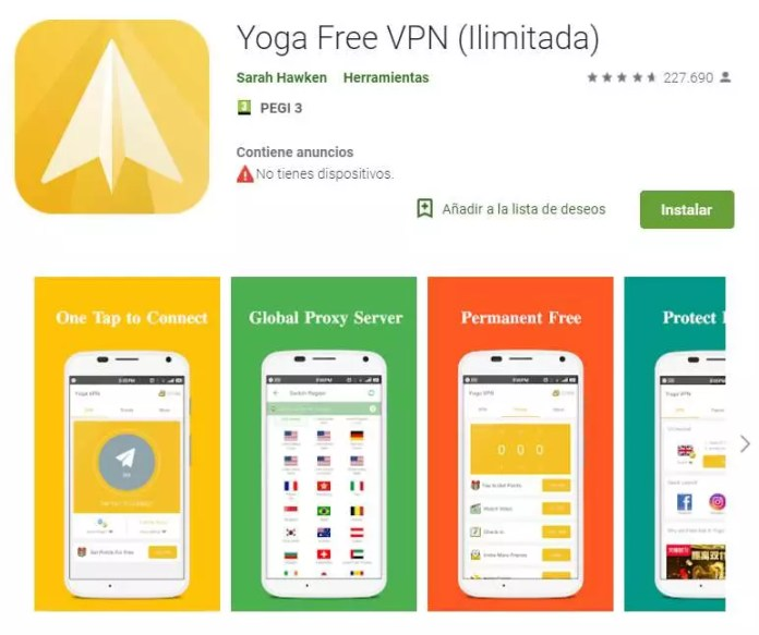 YOGA VPN FREE NET - Some VPNs for Android require dangerous