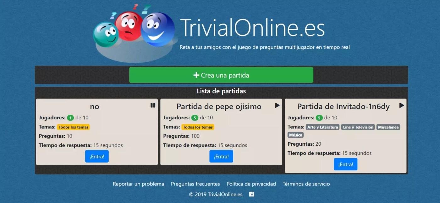 Trivialonine - Mejores trivial gratis online