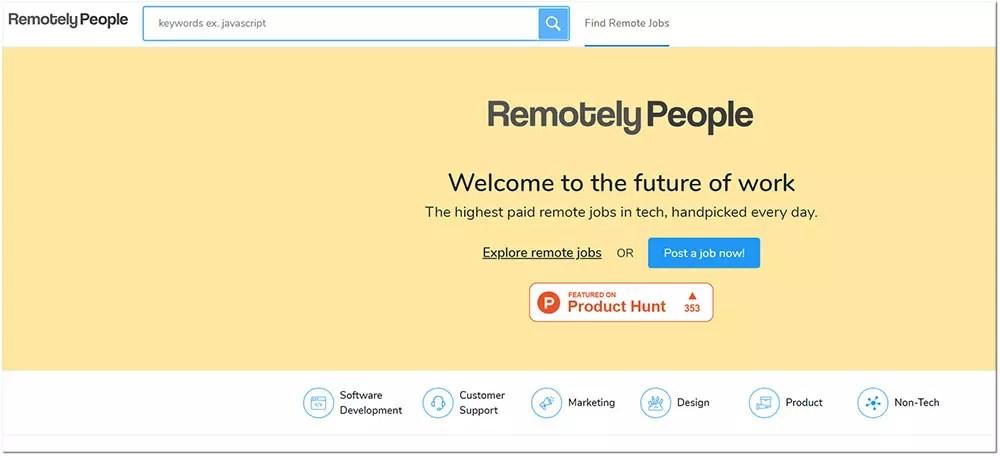 remotely people web freelances