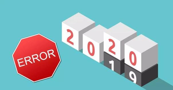 año 2020 error