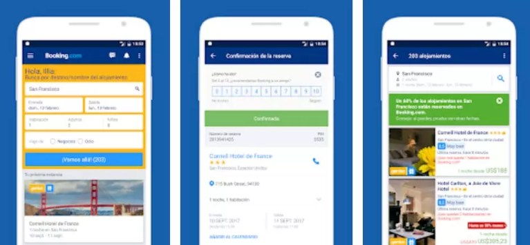 apps para viajar Booking