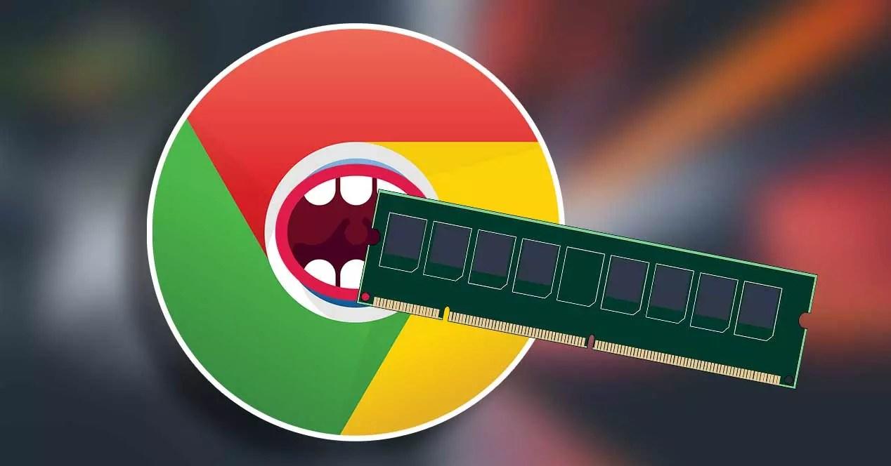 google chrome ram