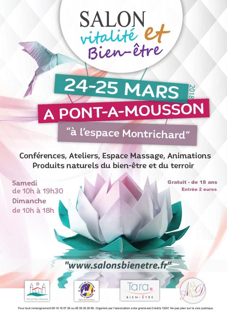 Affiche Salon vitalité et bien-être à Pont-à-Mousson 2018