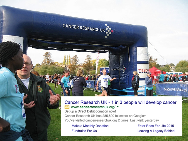 image showing people at a cancer research uk run
