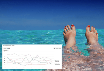 womans feet in a tropical sea