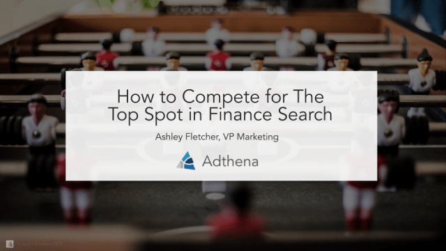how to compete in finance search