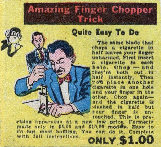 Amazing Finger Chopper Trick