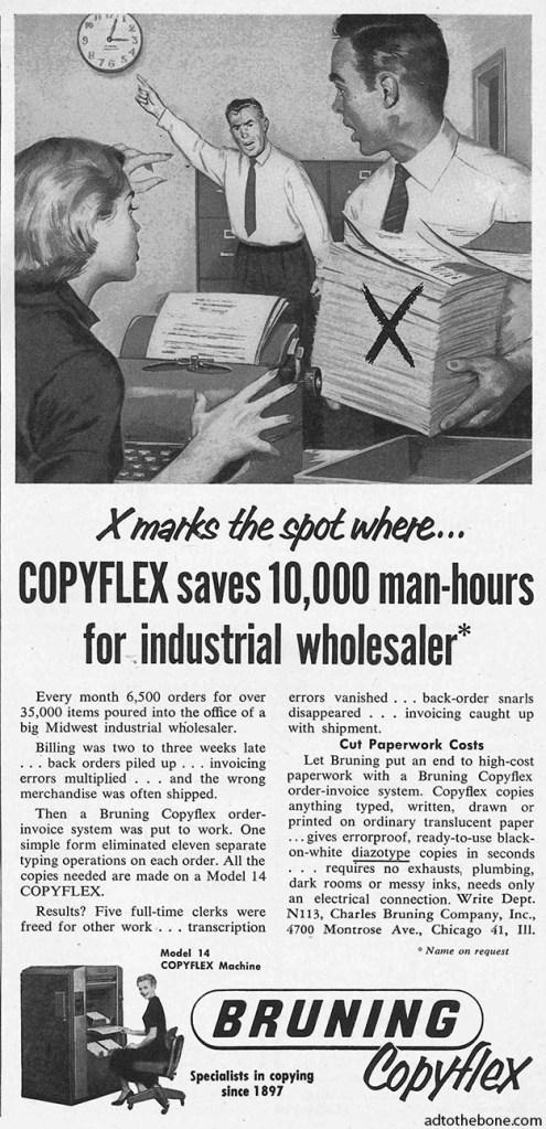Bruning Copyflex ad