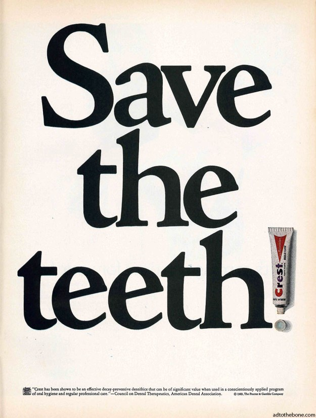 1969 ad for Crest toothpaste