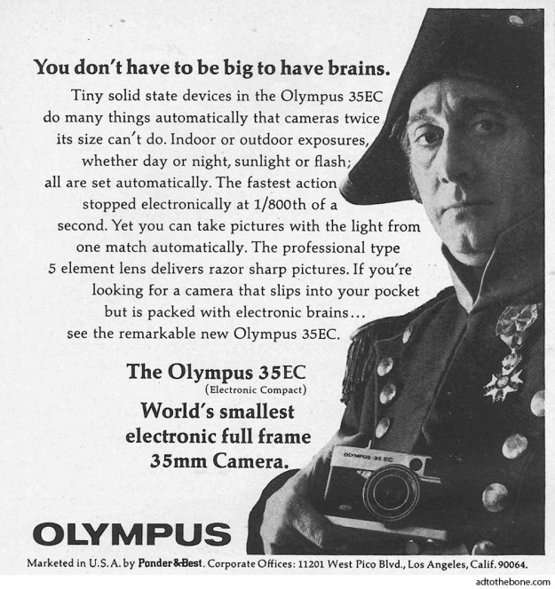 Ad for the Olympus 35EC