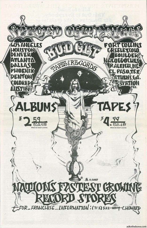 Full page Budget Tapes & Records ad from the July 8, 1971 issue of Rolling Stone magazine