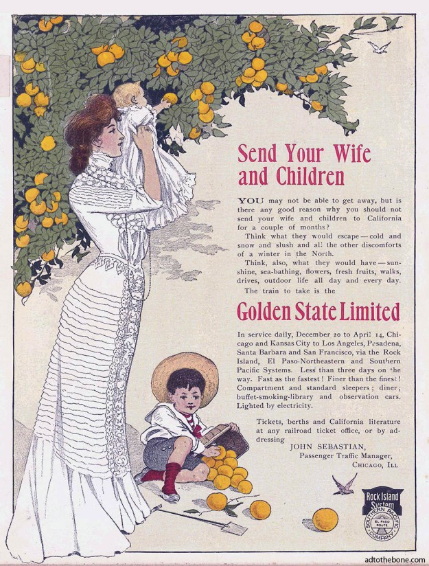 Magazine ad for the Golden State Limited found in the January 7, 1904 issue of Life magazine.