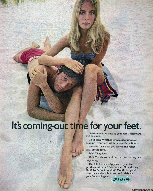 1969 magazine ad for Dr. Scholl's