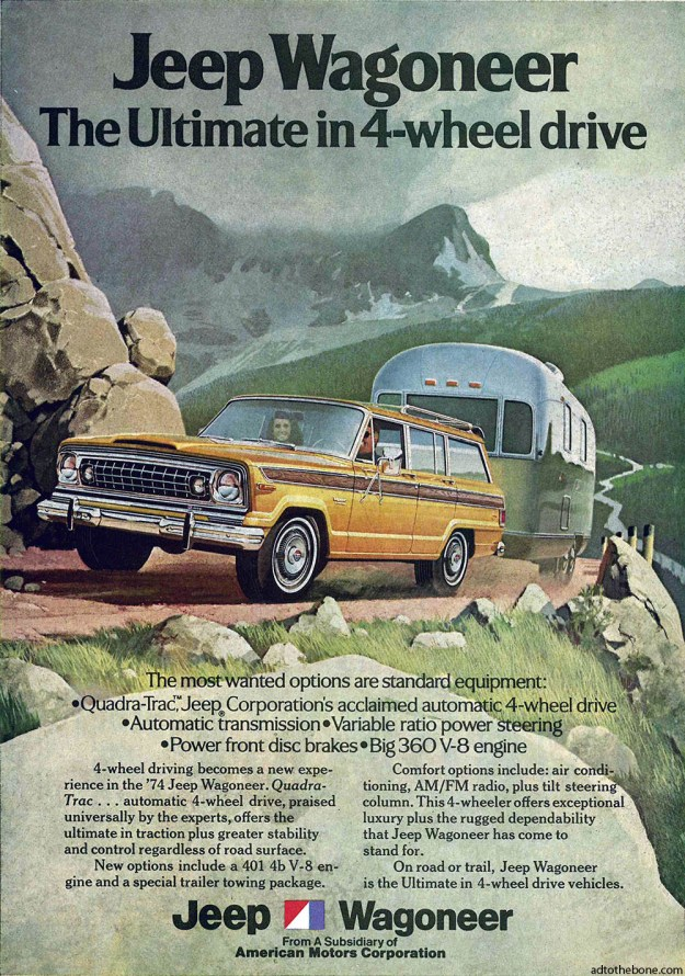 1974 magazine ad for the Jeep Wagoneer