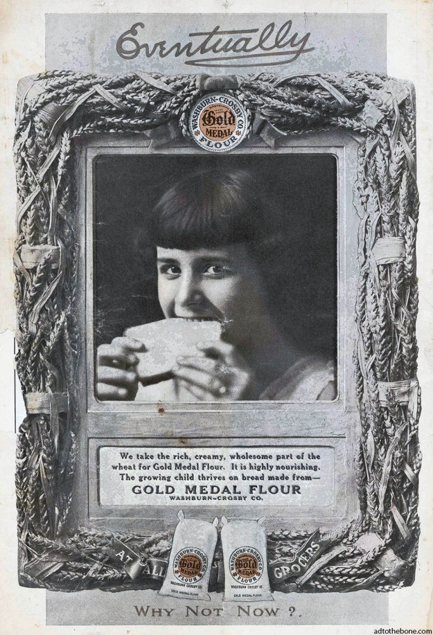 An early magazine ad for Gold Medal Flour