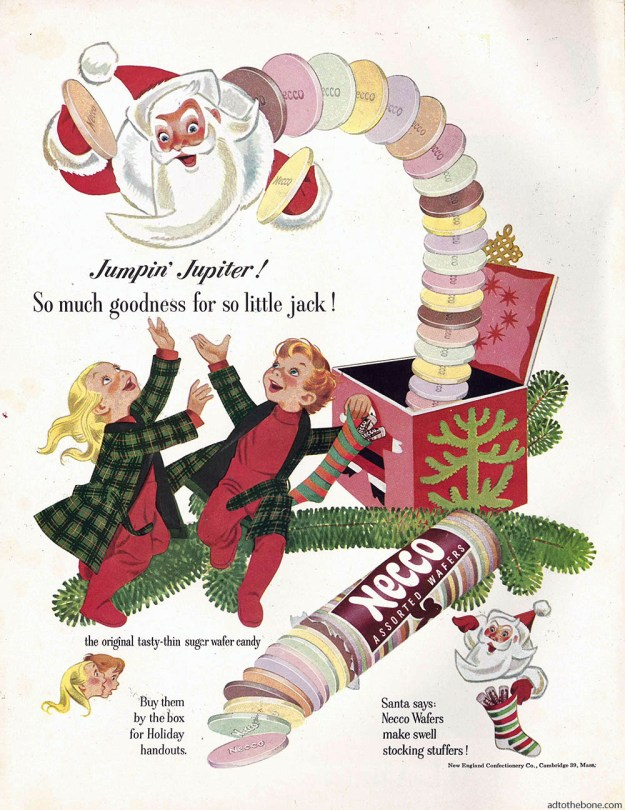 Magazine ad for Necco Wafers. I forgot to write down the year.