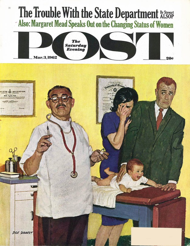 Cover illustration by Dick Sargent for The Saturday Evening Post's March 3, 1962, issue.