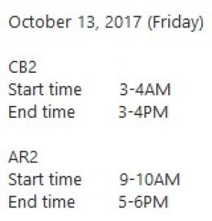 13 Oktober 2017