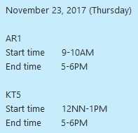 23 November 2017