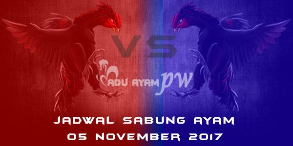 jadwal sabung ayam 05 November 2017