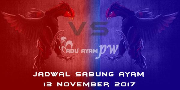 jadwal sabung ayam 13 November 2017