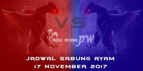 jadwal sabung ayam 17 November 2017